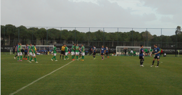 Both sides at the final whistle