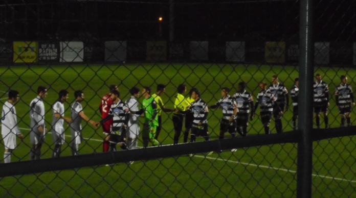 Pre-match handshake by Sturm & Tbilisi