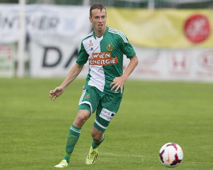 Philipp Schobesberger continued his fine against Sturm Graz (picture courtesy of Rapid Wien)
