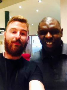Say cheese! Shaun Goater and I