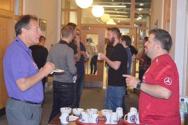 Coffee breaks were a perfect excuse to network with one another.