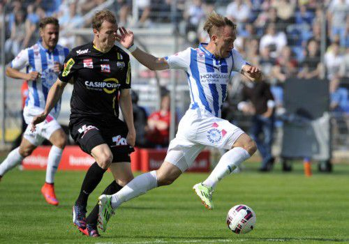 Hofbauer in action against his new side last season (photo courtesy of GEPA pictures)
